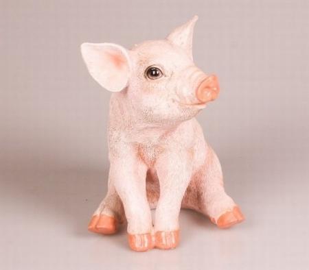 Polystone varken groot/zittend