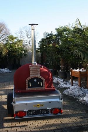 Verhuur Pizza oven Brick Rojo op aanhangwagen
