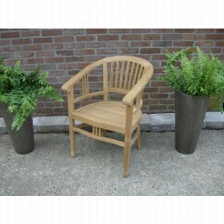 Teakhout tuinstoel met ronde rugleuning