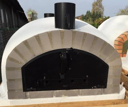 Oven Pisa 100 Geïsoleerd met brede zwarte deur