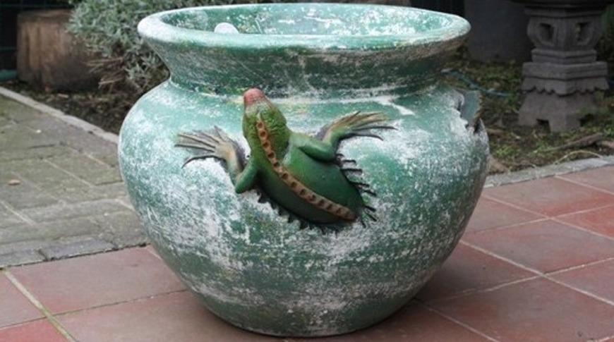 Handgemaakte mexicaanse potten en vazen