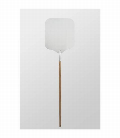 Pizzaschep/Aluminium blad & houten handvat 40x45x142cm
