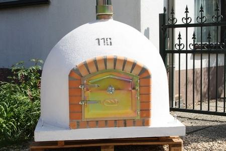 Houtoven, Pizza oven 110 cm met schoorsteen