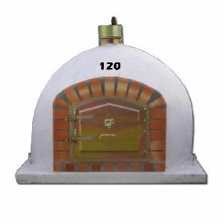 Houtoven, Pizza oven 120 cm  met schoorsteen UITVERKOCHT