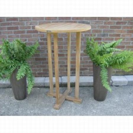 Teakhout ronde sta-bar tafel Ø70cm