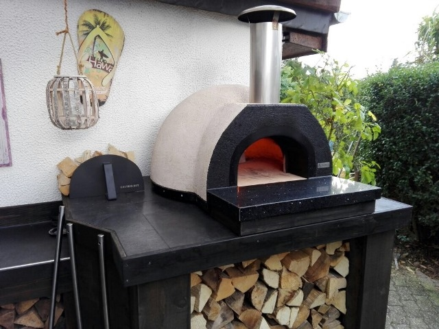 Amalfi Mediterranean portable oven70 Black Front