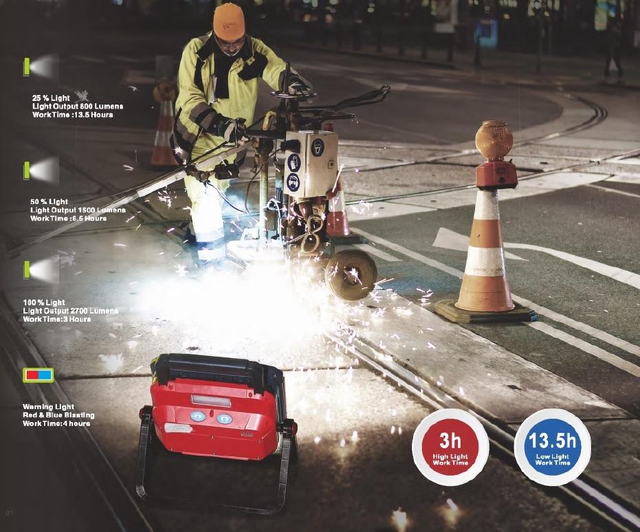 Barteljo Oplaadbare led-werklamp 30W hoge prestaties