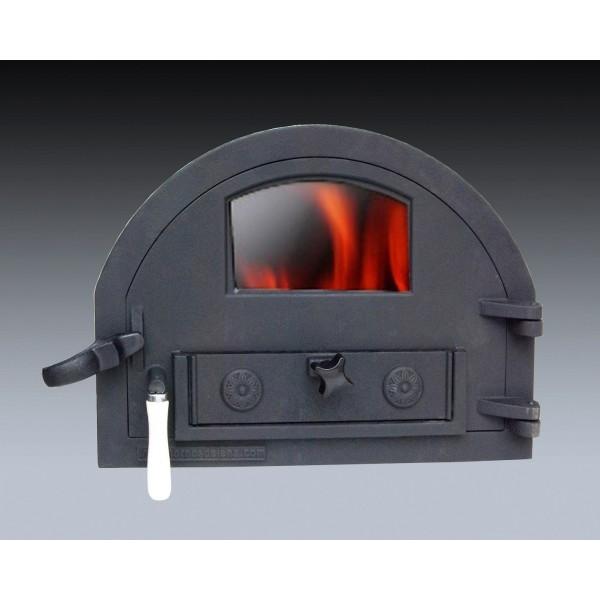 Gietijzeren deur met glasruitje Traditional Brick/small