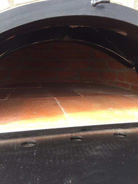 Houtoven Pisa 100  geïsoleerd met zwarte deur UITVERKOCHT