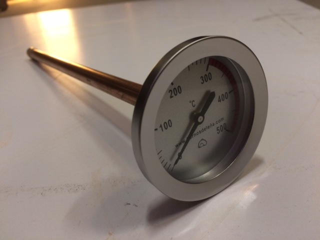 Muur thermometer pizza oven / 30cm