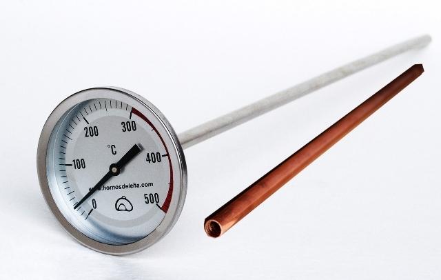 Professionele muur thermometer pizza oven / 50cm