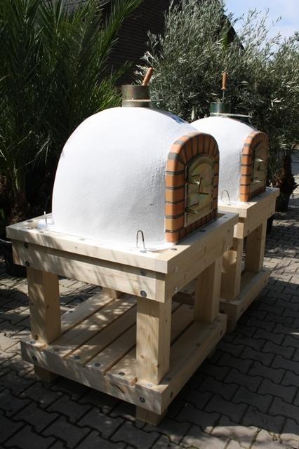 Robuust houten onderstel voor ovenmaat 80x80 cm