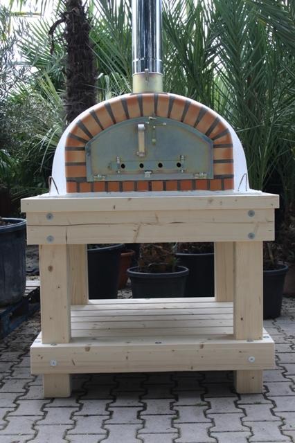 Robuust houten onderstel voor ovenmaat 90x90 cm