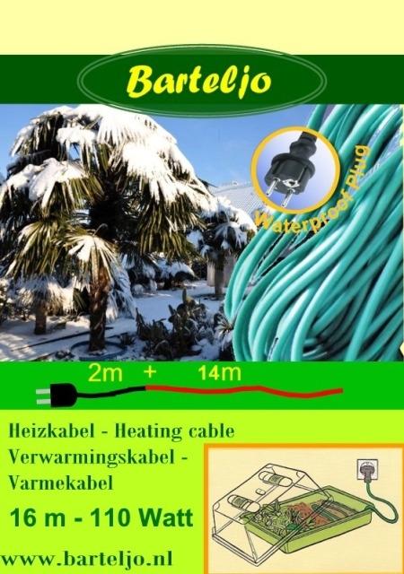 Verwarmingskabel Barteljo 16 meter