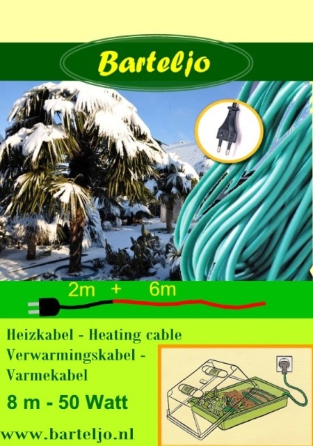 Verwarmingskabel Barteljo 8 meter