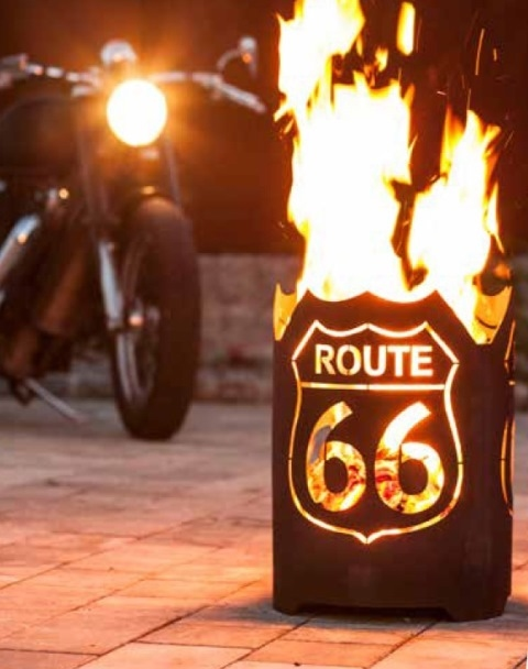 Vuurkorf ROUTE 66 rond