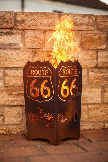 Vuurkorf ROUTE 66 vierkant UITVERKOCHT