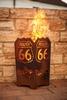 Vuurkorf ROUTE 66 vierkant